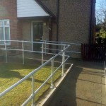 Disabled Access Improvements, Concrete Ramp, Handrails & Gates. Abbots Langley  (2)