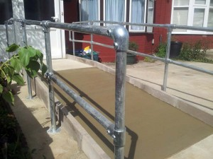 Disabled Access Improvements, Concrete Ramp & Handrails. Ilford (2)