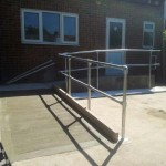 Disabled Access Improvements, Concrete Ramp & Handrails. Redbridge (2)