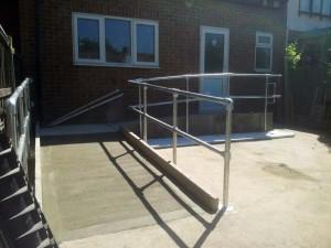 Disabled Access Improvements, Concrete Ramp & Handrails. Redbridge (2)