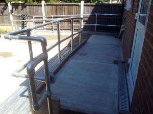 Disabled Access Improvements, Concrete Ramp & Handrails. Redbridge