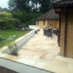 Disabled Access Improvements. Rear Patio & Walls. Linton (2)