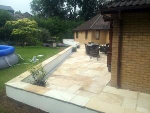 Disabled Access Improvements. Rear Patio & Walls. Linton (2)