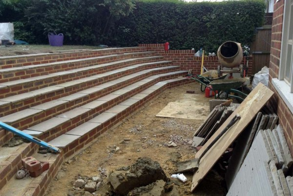 Large Step System & Patio. Hampstead Garden Suburb (5)