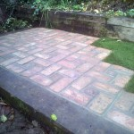Reclaimed Brick Paved Area. New Barnet