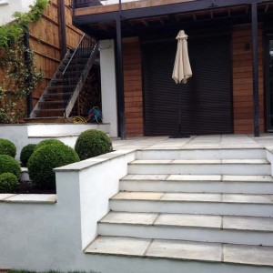 Rendered Walls, Steps & Paving, Hampstead (2)