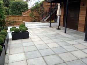 Rendered Walls, Steps & Paving, Hampstead (3)