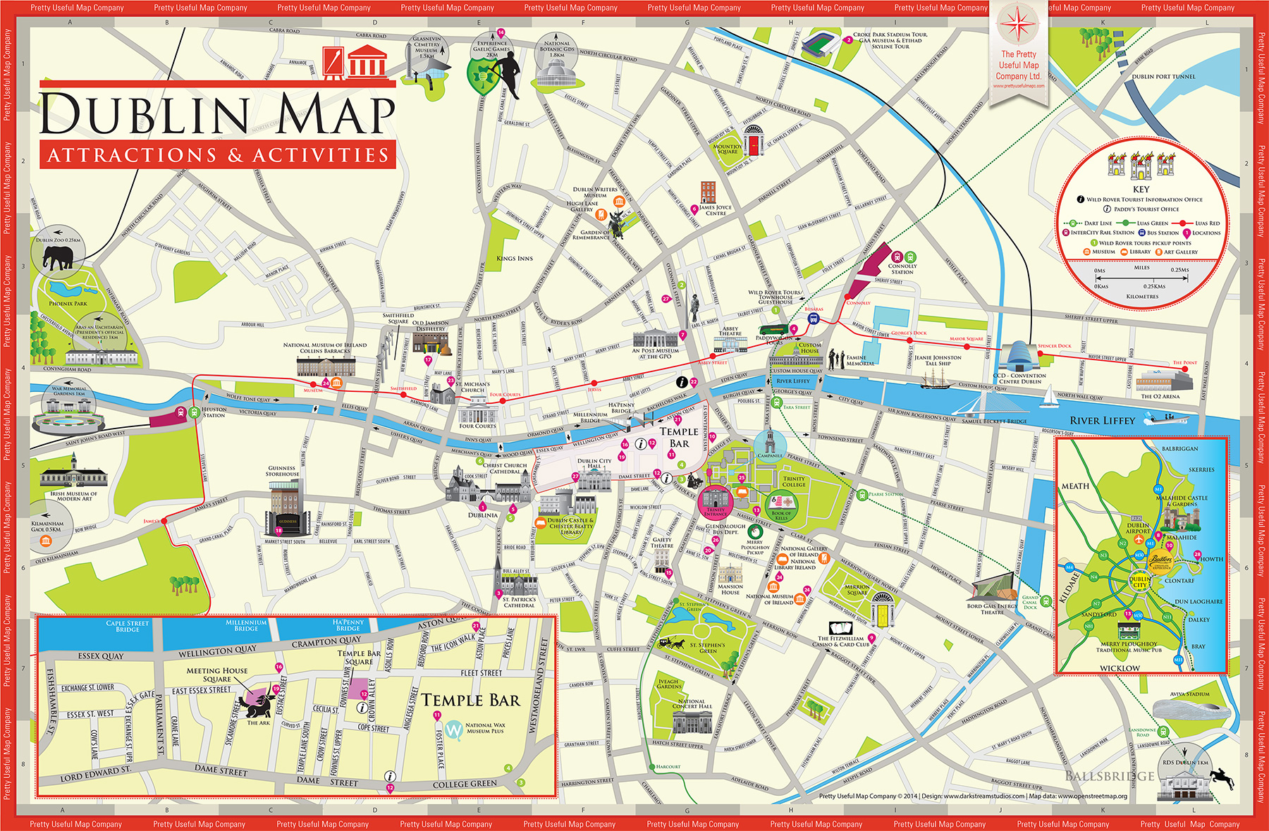 Pretty Useful Map Co – Tourist Map Dublin
