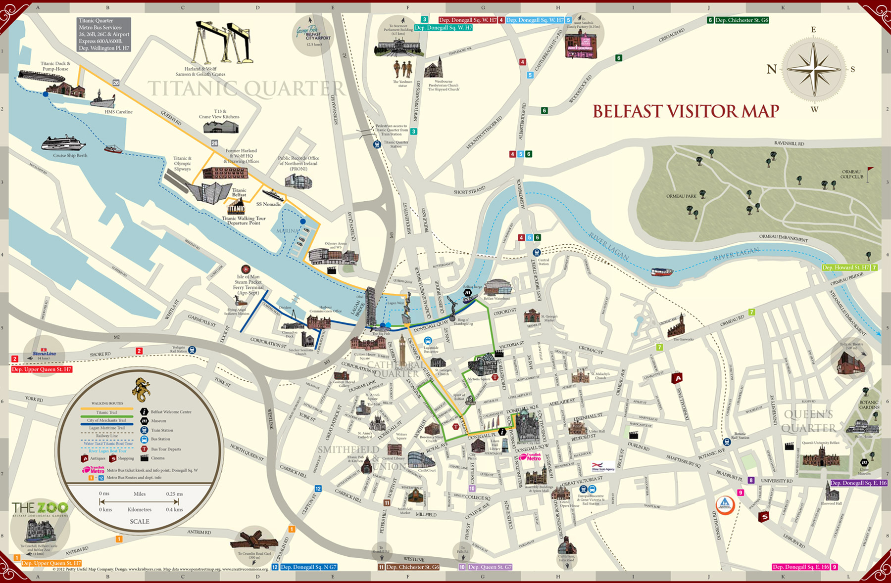 belfast map  uptowncritters -