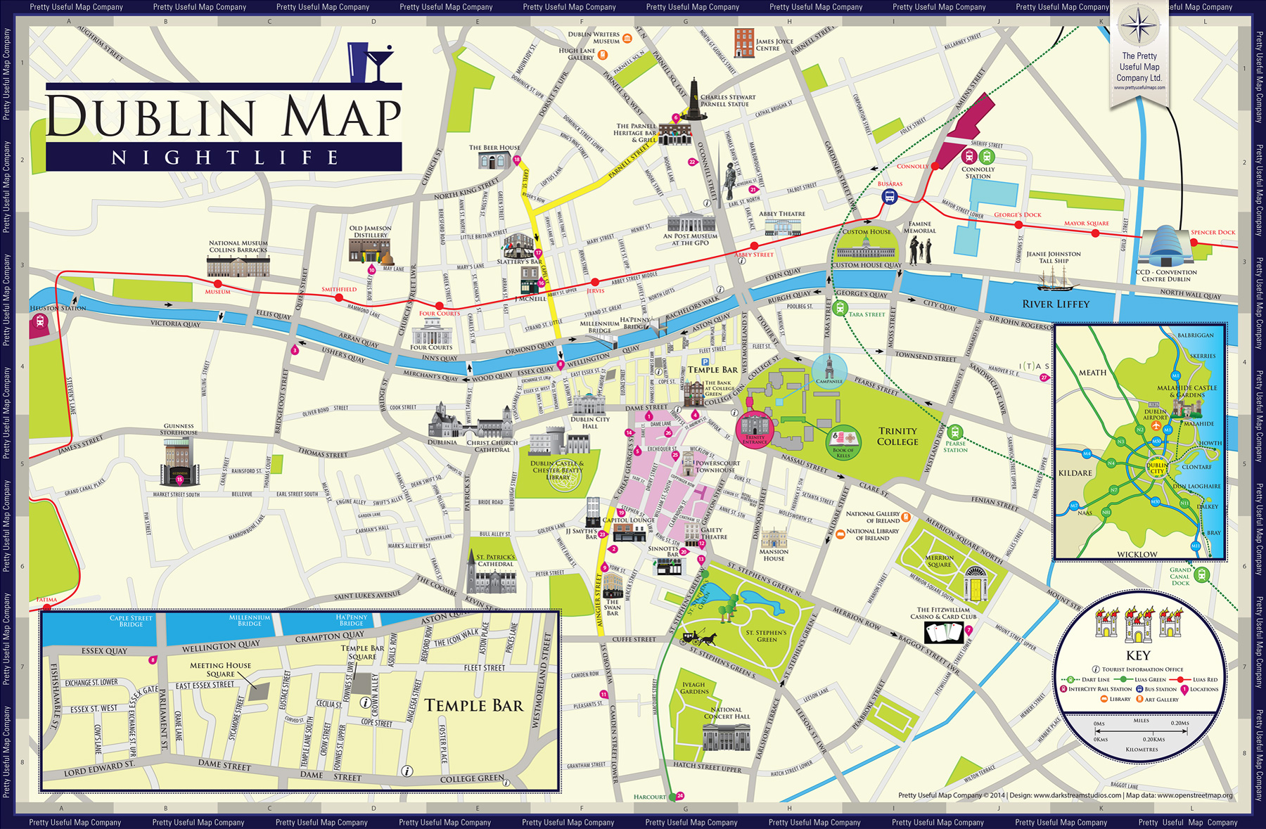 Dublin Nightlife Map