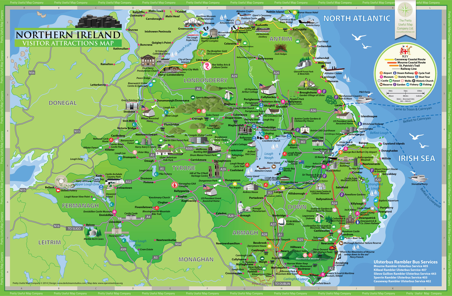 Map Of N Ireland.Pretty Useful Map Co Beautifully Illustrated Map Guides